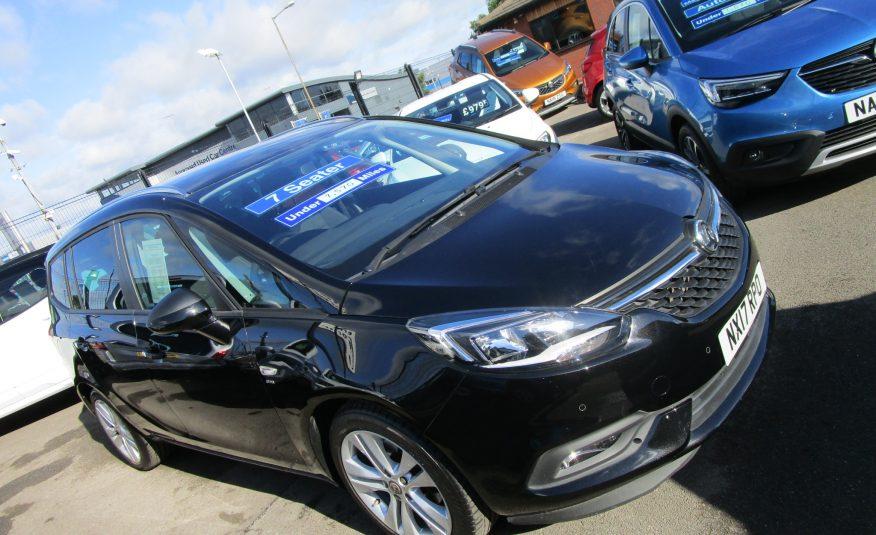 Vauxhall Zafira Tourer SRi Turbo 140 BHP 7 Seat 17 Reg